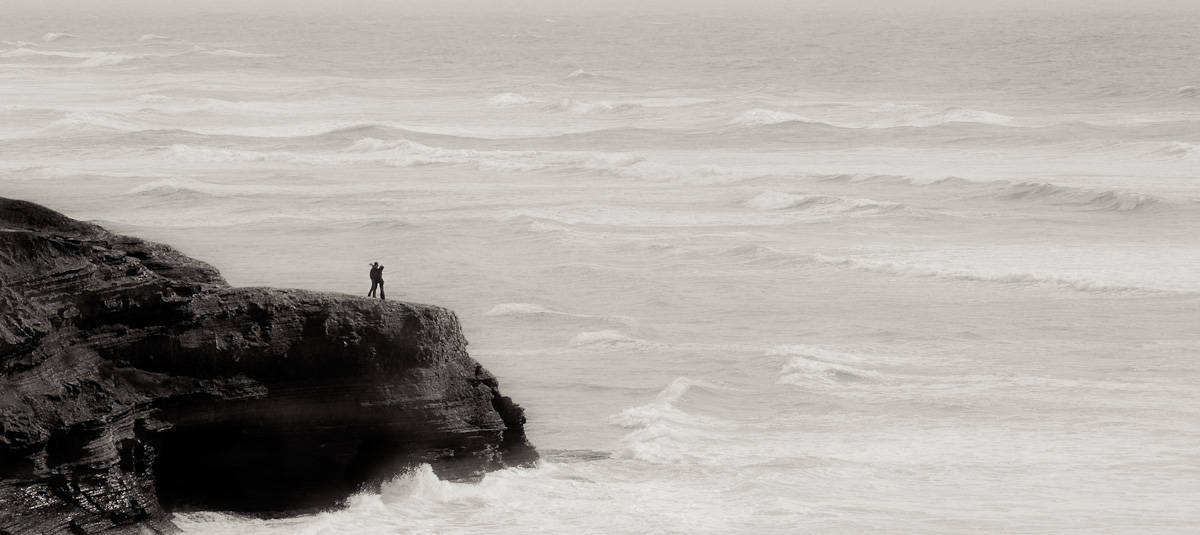Couple at Sunset Cliffs