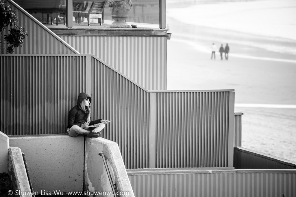 Lost in Thought, at La Jolla Shores.