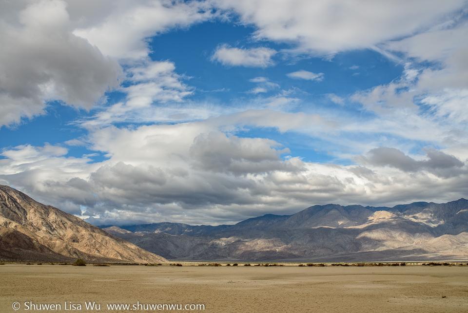 Clark Dry Lake, Anza Borrego Desert State Park, CA.