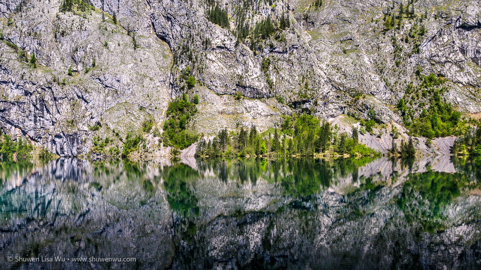 Obersee, Nationalpark Berchtesgaden, Bavaria, Germany.