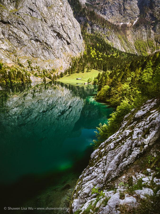 Fischunkelalm at Obersee, Nationalpark Berchtesgaden, Bavaria, Germany.