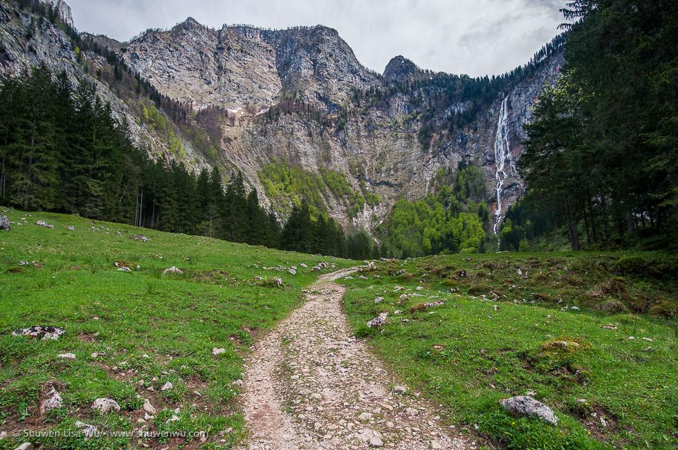 Trail to Röthbachfall, Nationalpark Berchtesgaden, Bavaria, Germany.