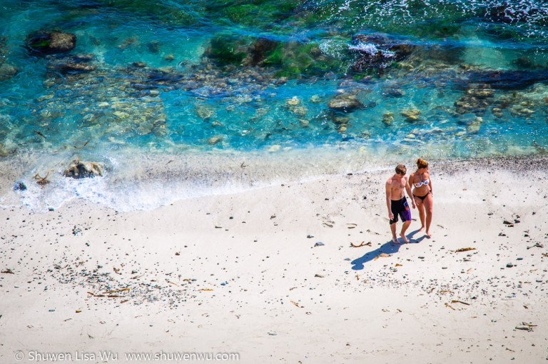Couple and Blue Ocean