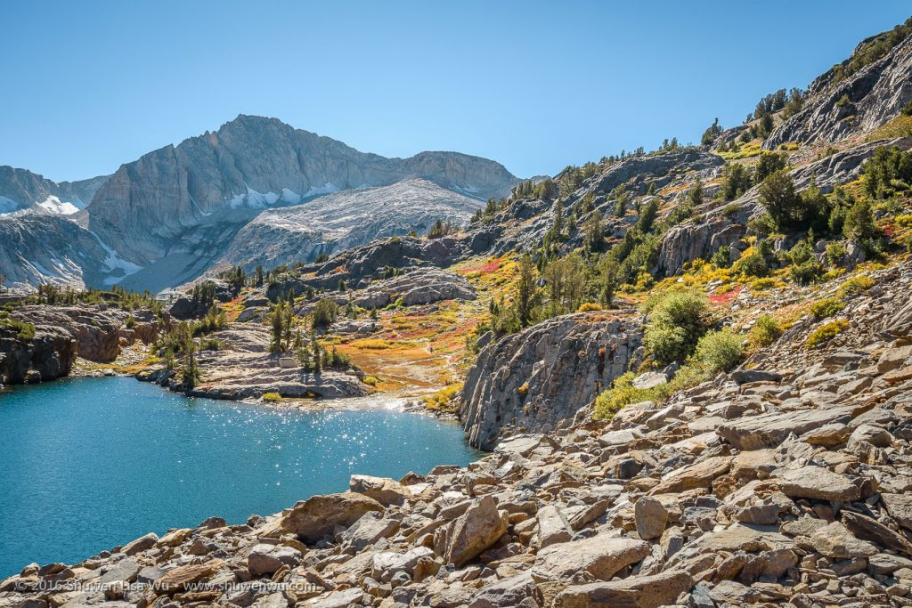 Glittering Water & North Peak, 20 Lakes Basin, Hoover Wilderness, California, September 2016.