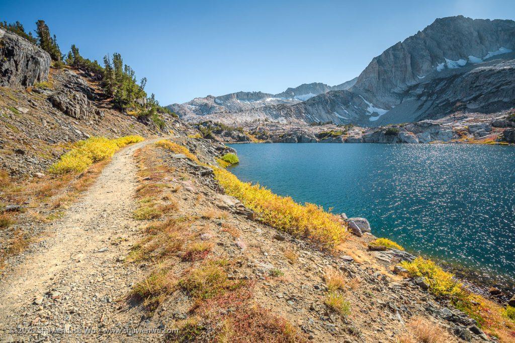 Steelhead Lake, 20 Lakes Basin, Hoover Wilderness, California, September 2016.