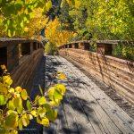 Bridge at Tyee Lakes trailhead, South Lake Road, Bishop, California, September 2016.