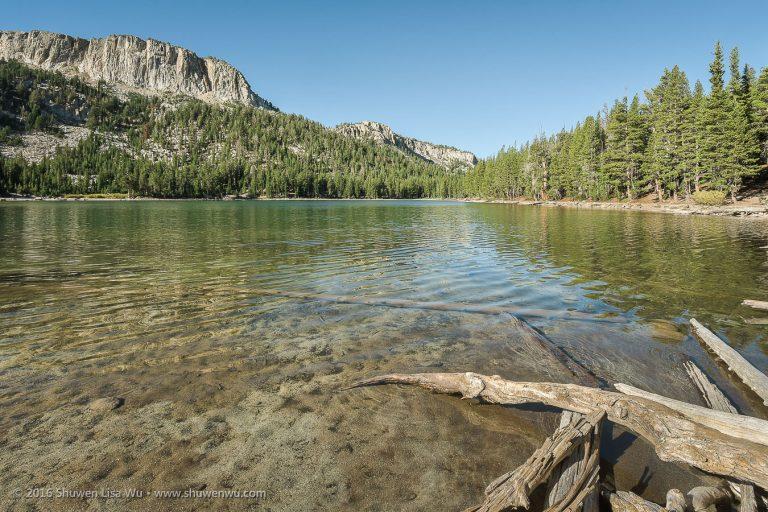 Calm Morning at McLeod Lake, Mammoth Lakes, California, September 2016.