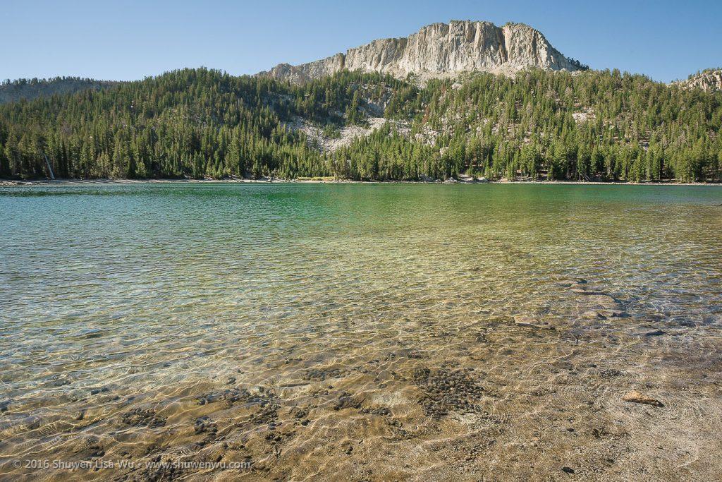 Clear water of McLeod Lake, Mammoth Lakes, California, September 2016.