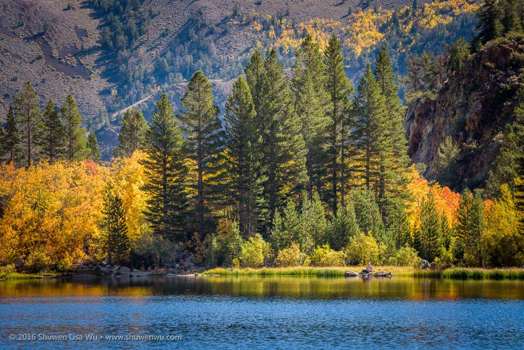Painters arrive and set up at North Lake to picture the beautiful fall colors, Bishop, California, September 2016.