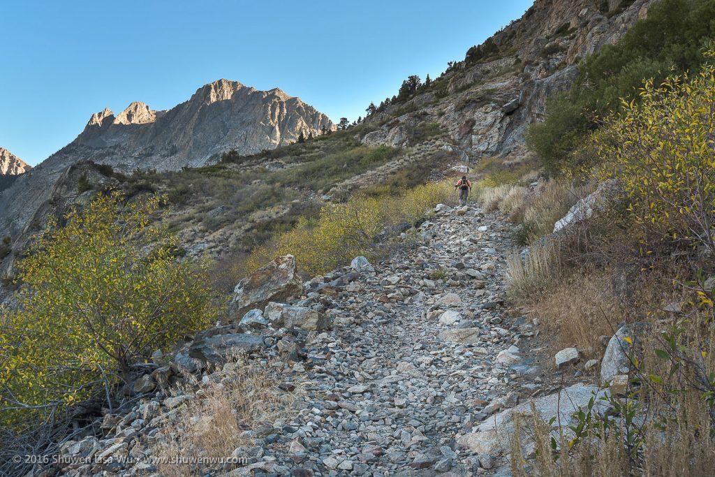 Alex on the Rush Creek Trail above Silver Lake, June Lake Loop, California, September 2016.