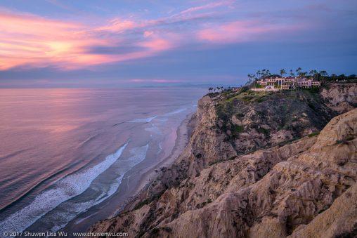 Blue Hour at the bluffs of Scripps Coastal Preserve, La Jolla, California. January 2017.
